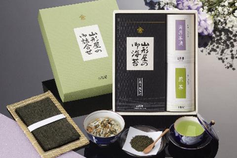 山形屋海苔店 焼海苔 海苔茶漬 煎茶       詰合せ